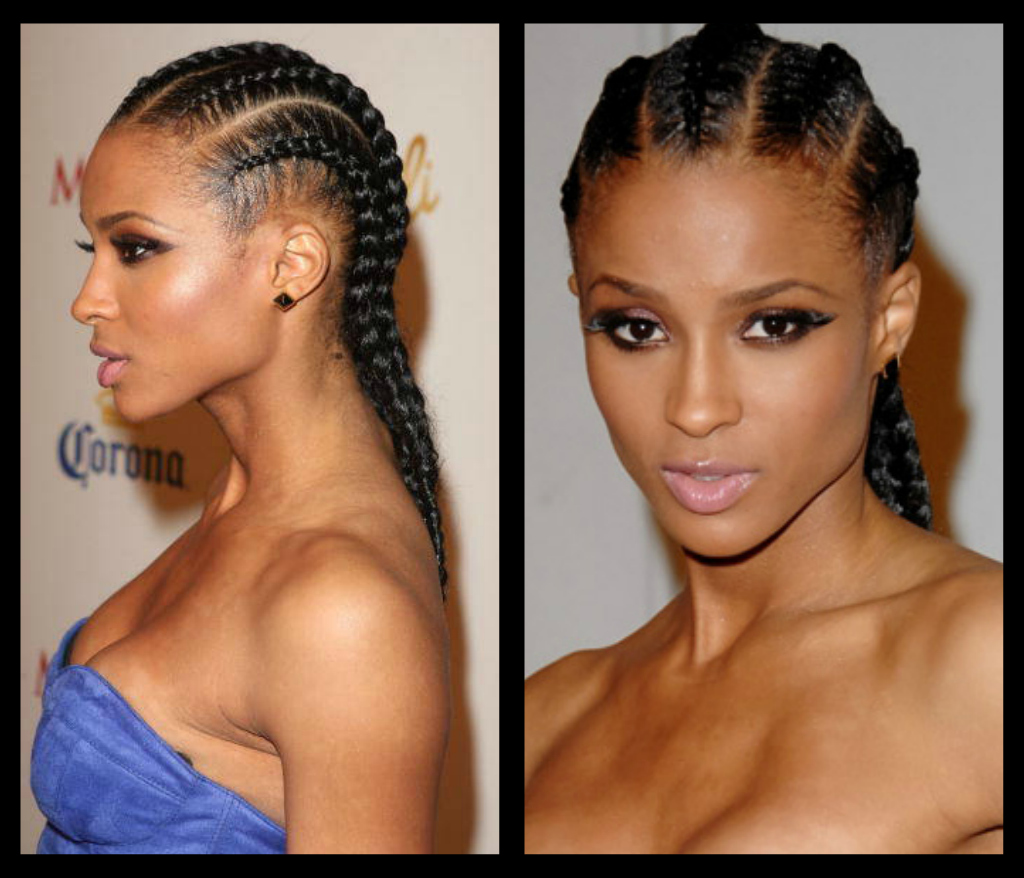 Celebrities with braids